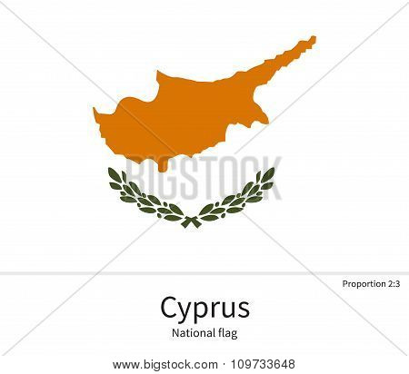National flag of Cyprus with correct proportions, element, colors