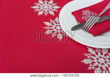Red Festive Table