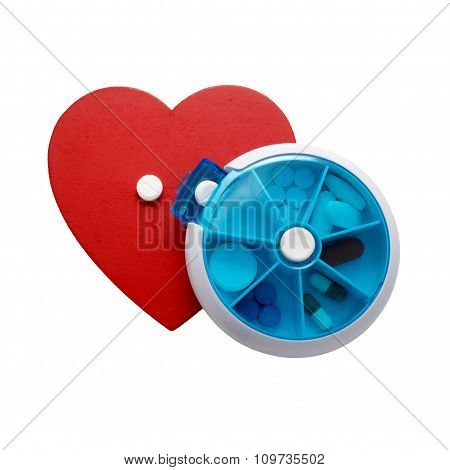 taking medication for heart disease