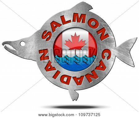 Canadian Salmon - Metal Icon