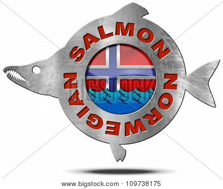 Norwegian Salmon - Metal Icon