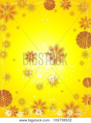 Vector Yellow Christmas background