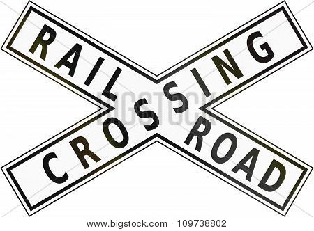 Road Sign In The Philippines - Railroad Crossbuck