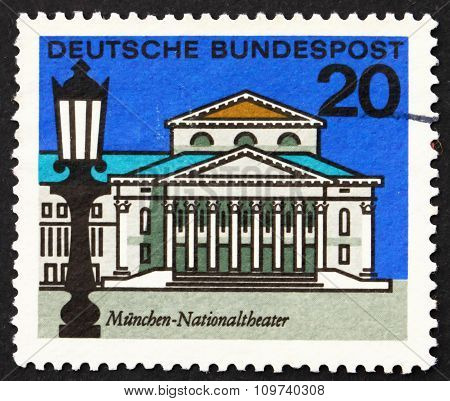 Postage Stamp Germany 1964 National Theater, Munich