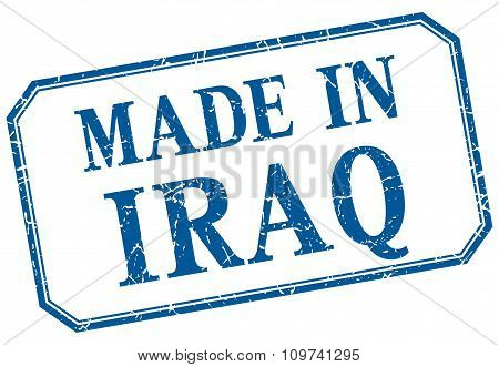 Iraq - Made In Blue Vintage Isolated Label