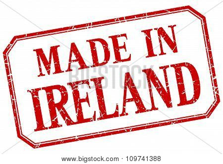Ireland - Made In Red Vintage Isolated Label