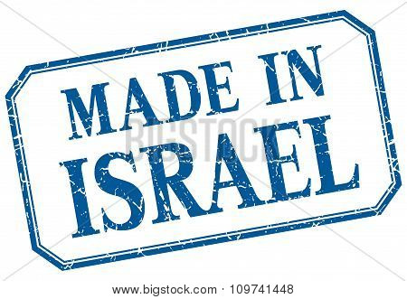 Israel - Made In Blue Vintage Isolated Label