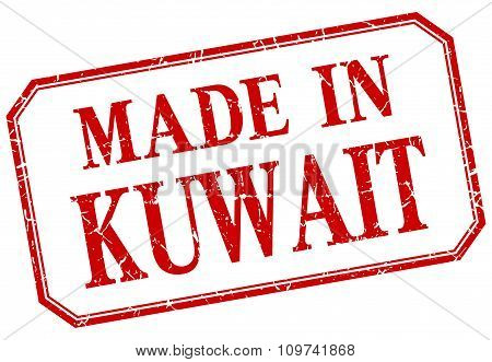 Kuwait - Made In Red Vintage Isolated Label