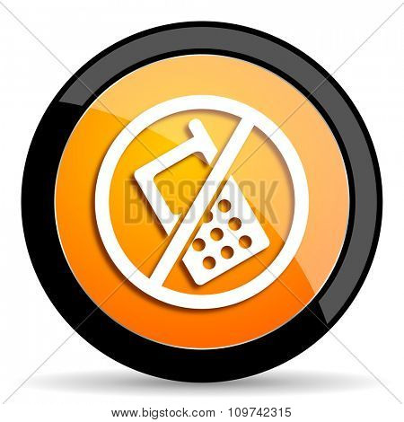 no phone orange icon