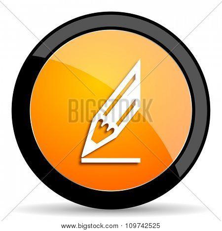 pencil orange icon