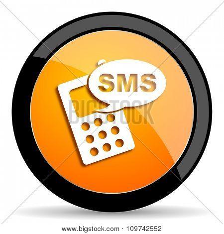 sms orange icon