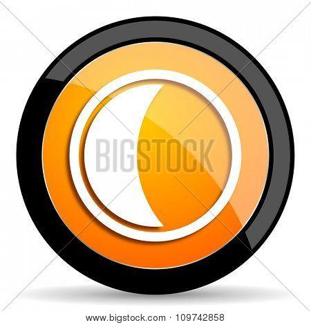 moon orange icon