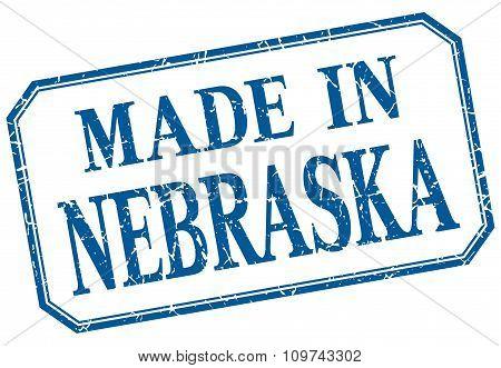 Nebraska - Made In Blue Vintage Isolated Label