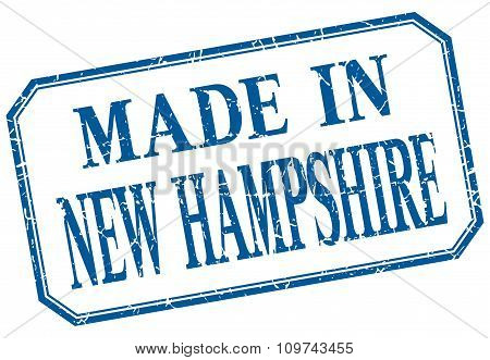 New Hampshire - Made In Blue Vintage Isolated Label