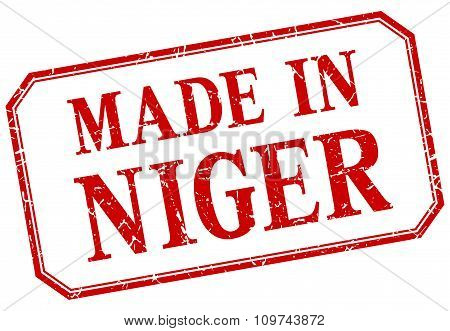 Niger - Made In Red Vintage Isolated Label