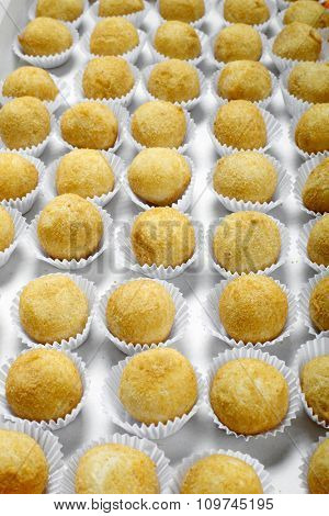 Brazilian deep fried  snack, popular at local parties.