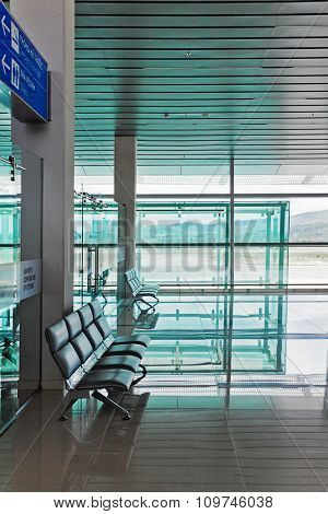 PHU QUOC, VIETNAM â?? APRIL 27, 2014: Departure lounge of  Phu Quoc international airport, which was completed in November 2012 and was put into operation on 2 December 2012