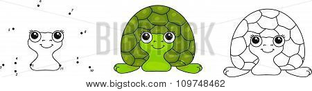 Funny Green Turtle