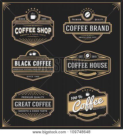 Set Of Vintage Frame Design For Labels, Banner, Sticker And Other Design