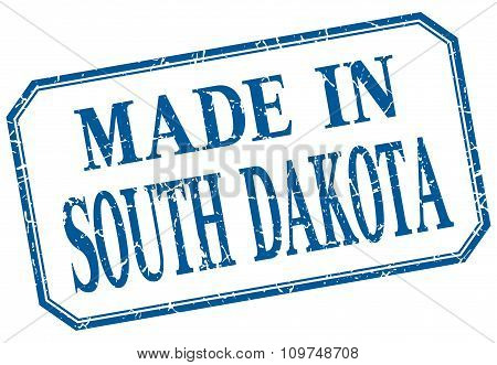 South Dakota - Made In Blue Vintage Isolated Label