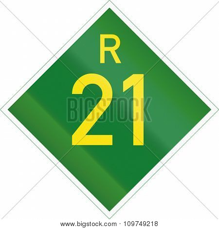 South Africa Provincial Route Shield - R21