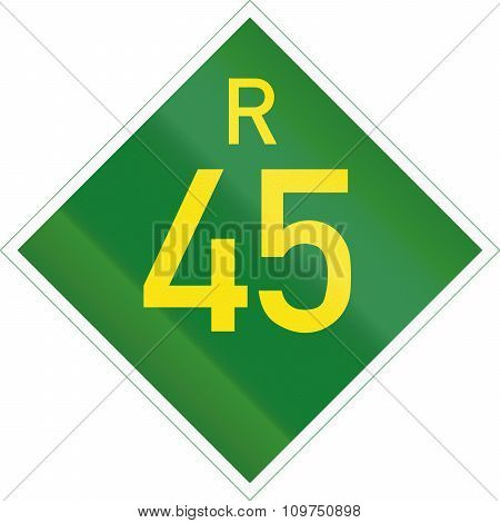 South Africa Provincial Route Shield - R45