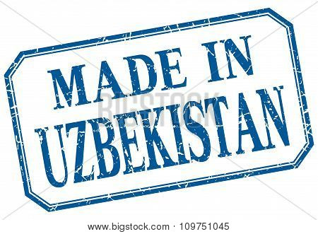 Uzbekistan - Made In Blue Vintage Isolated Label
