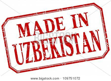 Uzbekistan - Made In Red Vintage Isolated Label