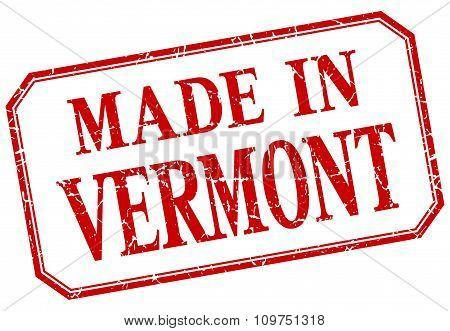 Vermont - Made In Red Vintage Isolated Label
