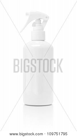 blank packaging spray bottle isolated on white background