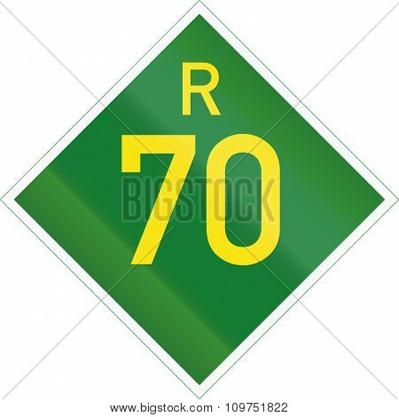 South Africa Provincial Route Shield - R70