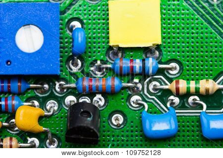 Macro Photo Of Electronic Circuit