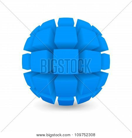 Divided Blue Sphere
