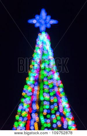 Defocused Christmas Tree Lights