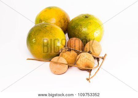 Orange and longan