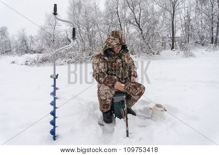 Winter Fisherman