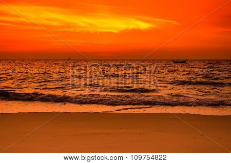 Scene Of Sky And Sea During Sunset