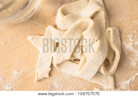 Strips Of Dough Cooked Pasta