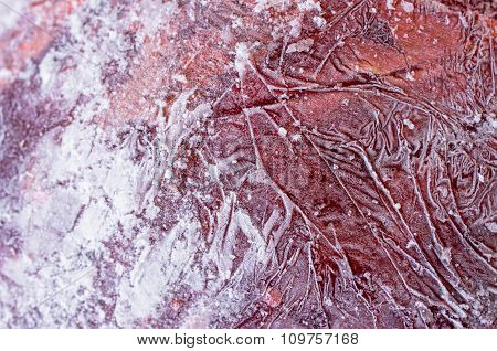 Frozen Meat Texture For Background
