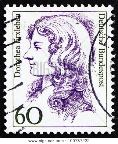 Postage Stamp Germany 1987 Dorothea Erxleben, Physician