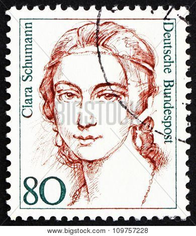 Postage Stamp Germany 1986 Clara Schumann, Pianist, Composer
