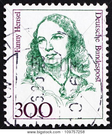 Postage Stamp Germany 1989 Fanny Hensel, Composer, Conductor