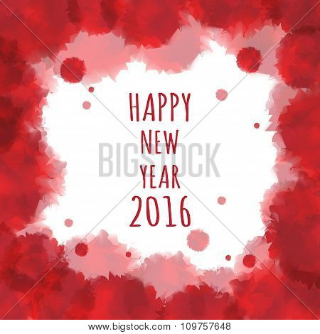 Watercolor 2016 Happy New Year Background.vector.