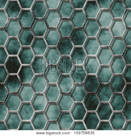 Abstract decorative grille - gray pattern