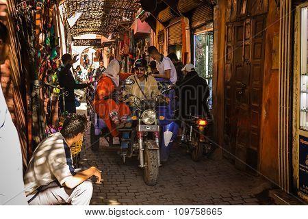 In The Souk Of Marrakesh Medina