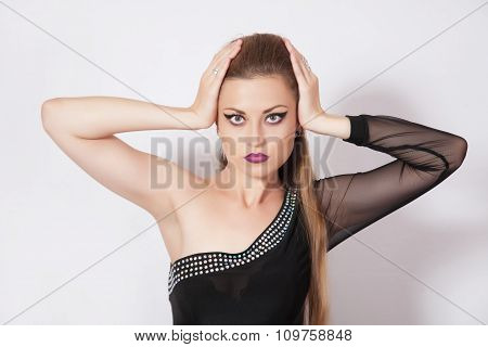 Beautiful Woman With Dark Make-up