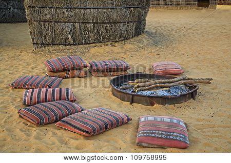 Desert Camp Arabic Fireplace