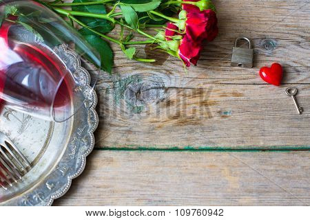Saint Valentines Day In Vintage Style