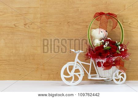 Floral Bouquet On The Bicycle