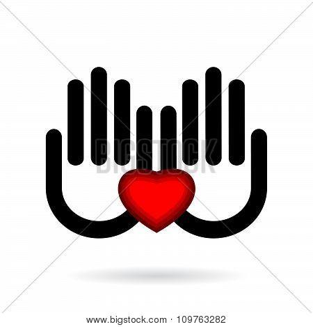 icon hand .